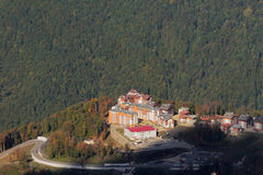 Berg Olympisch dorp Sotchi, Rusland Royalty-vrije Stock Fotografie