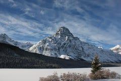 Berg onder een blauwe hemel Royalty-vrije Stock Foto's