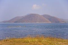 Berg op de dam Royalty-vrije Stock Foto