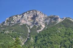 Berg ovanför Tolmin, Slovenien Royaltyfria Foton