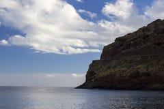 Berg over de oceaan in Madera Royalty-vrije Stock Afbeelding