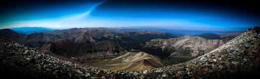 Berg-overvieuw stockbild