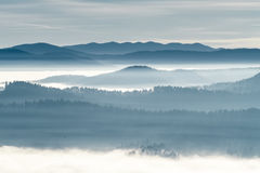 Berg på horisonten Royaltyfri Foto