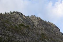 Berg på klar himmel Fotografering för Bildbyråer