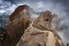 Berg på madeira royaltyfri fotografi