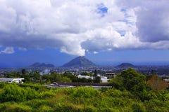 Berg på Mauritius Arkivfoton