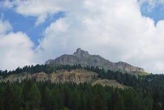 Berg på Passo di Costalunga Royaltyfria Bilder