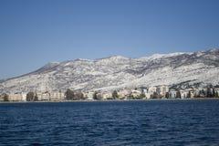 Berg på vintern Arkivbilder