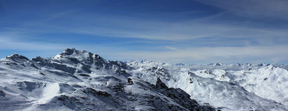 Berg (panorama) Arkivbilder