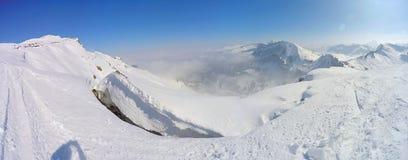 Berg-panorama Oostenrijk over4k Stock Afbeelding