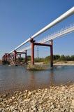 berg pipelines liten övergång två Arkivfoton