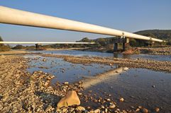 berg pipelines liten övergång två Fotografering för Bildbyråer