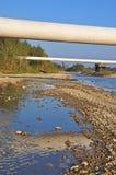 berg pipelines liten övergång två Royaltyfria Foton