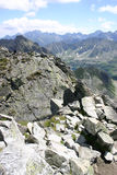 berg polerar tatra Arkivbild