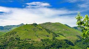 Berg pyrenees på Frankriket arkivbild