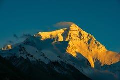 Berg Qomolangma Stockfoto
