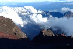 Berg Rinjani-Trekking Stockbilder
