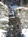Berg, rivier stock foto