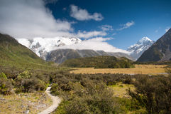 Berg scape van Mt. Cook, Nieuw Zeeland Royalty-vrije Stock Afbeeldingen