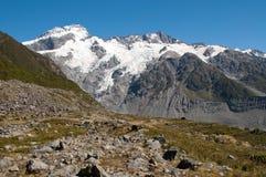 Berg scape van Mt. Cook, Nieuw Zeeland Stock Afbeelding