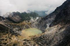 Berg Sibayak stockfoto