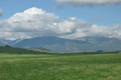 Berg sikter av den västra Tatrasen Arkivfoto