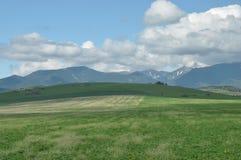 Berg sikter av den v?stra Tatrasen, sn?-korkade maxima slovakia royaltyfria bilder