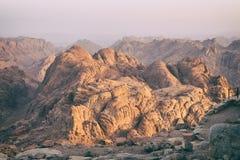 Berg Sinai an der Dämmerung Stockfoto