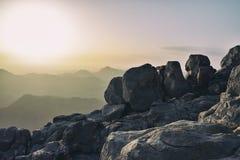 Berg Sinai an der Dämmerung Stockfotos