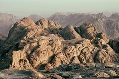 Berg Sinai an der Dämmerung Lizenzfreie Stockbilder