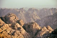 Berg Sinai an der Dämmerung Lizenzfreies Stockfoto