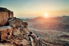 Berg Sinai an der Dämmerung Lizenzfreie Stockfotografie