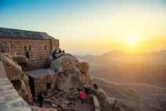 Berg Sinai an der Dämmerung Stockbilder