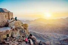 Berg Sinai an der Dämmerung Lizenzfreie Stockfotos
