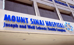 Berg Sinai-Krankenhaus Lizenzfreie Stockfotografie