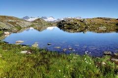 Berg sjö Arkivfoto