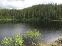 Berg-sjö Fotografering för Bildbyråer