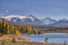 Berg sjö, Altai berg fotografering för bildbyråer