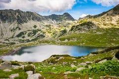 Berg sjö Bucura, i Retezat, Rumänien, Europa Arkivfoto