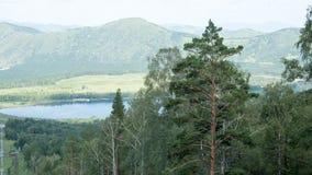 Berg sjö från en höjd Arkivfoton