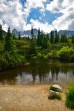 Berg sjö i Tatrasen Arkivfoto