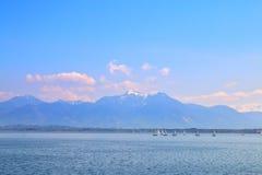 Berg sjö i Tyskland Royaltyfria Bilder