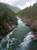 Berg-Sjoa-Fluss stockbild