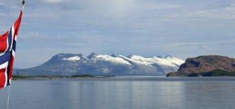 Berg sju systrar i nord av Norge Royaltyfria Foton