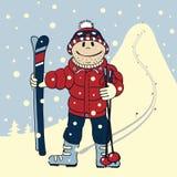 Berg-skiër Stock Afbeeldingen
