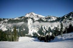 berg skidar Arkivbild