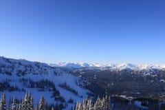 berg skidar Arkivfoto