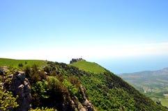 Berg slättar i Krim arkivfoto