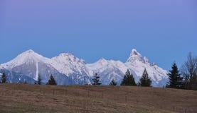 Berg Slesse bei Sonnenuntergang Lizenzfreies Stockbild