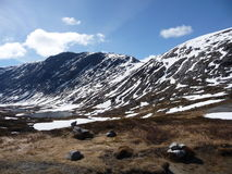 berg snöig norway Royaltyfria Bilder